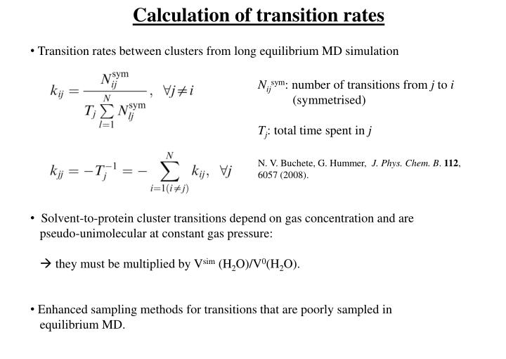 Calculation of transition rates
