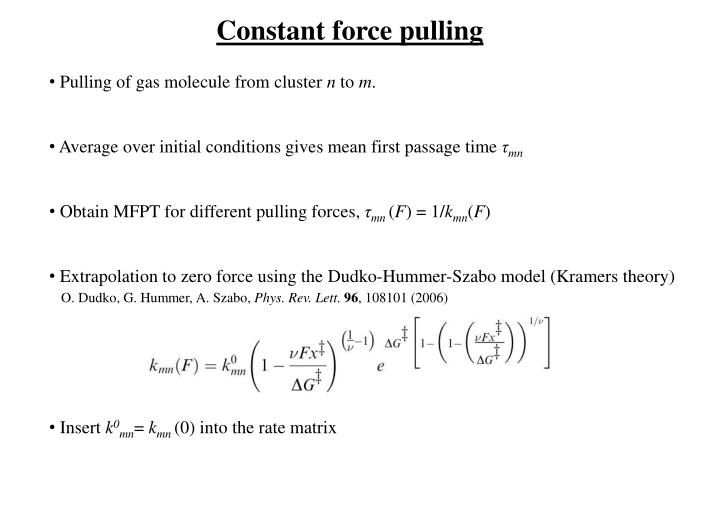 Constant force pulling