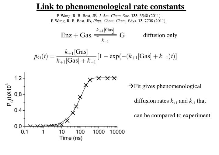 Link to phenomenological rate constants