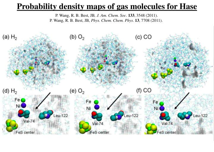 Probability density maps of gas