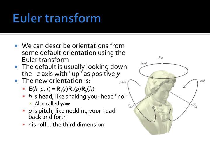 Euler transform