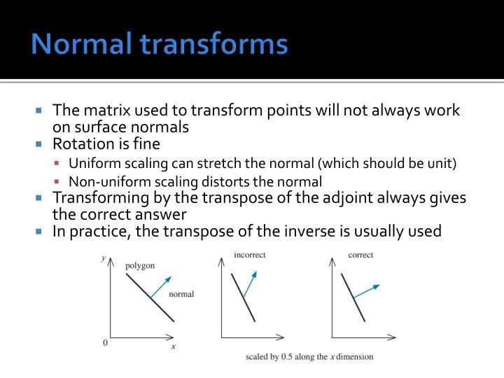 Normal transforms