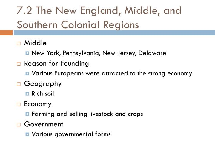 compare and contrast the middle and southern colonies Answer to: compare and contrast the new england middle and southern colonies by signing up, you'll get thousands of step-by-step solutions to your.