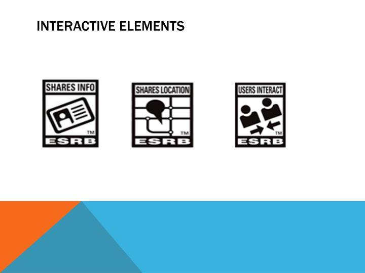 Interactive elements