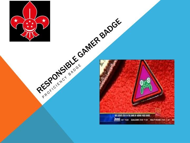 Responsible gamer badge