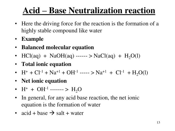 Balanced Chemical Equation Between Sodium Hydroxide And – Acid Base Reactions Worksheet