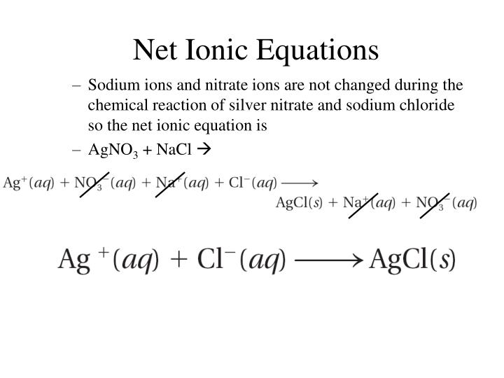 how to write net ionic equaitions