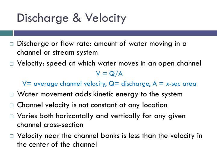 Discharge & Velocity
