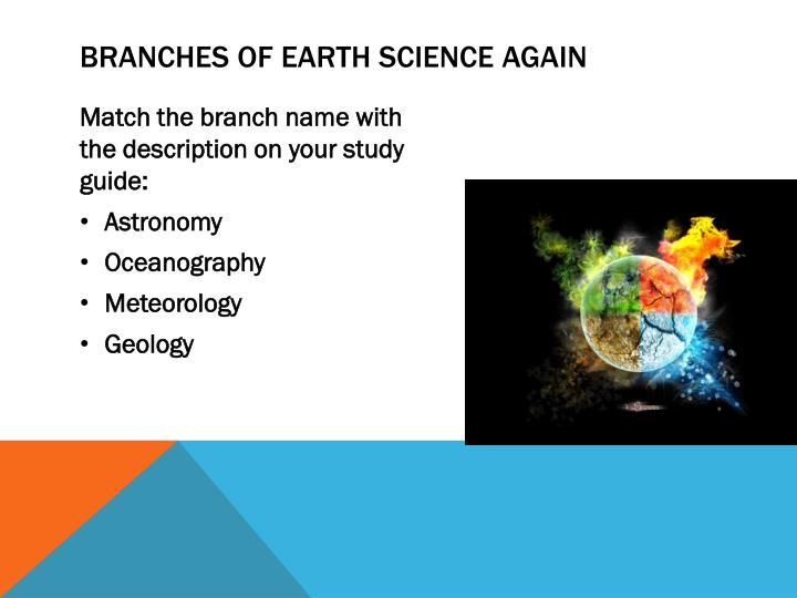 Branches of Earth science again