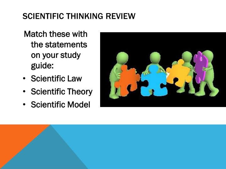 Scientific thinking review