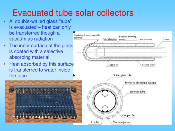 Evacuated tube solar collectors