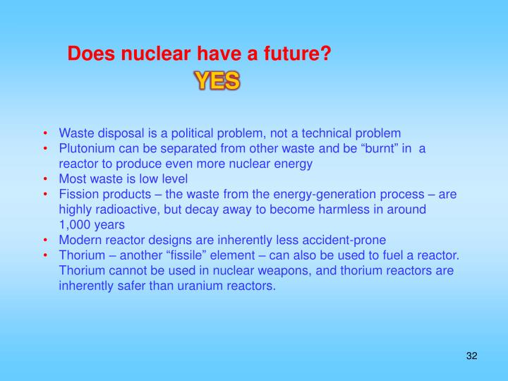 Does nuclear have a future?