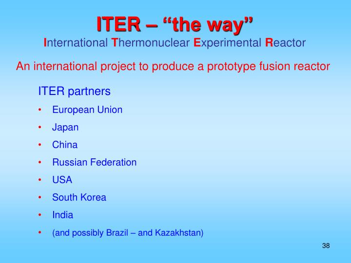 """ITER – """"the way"""""""