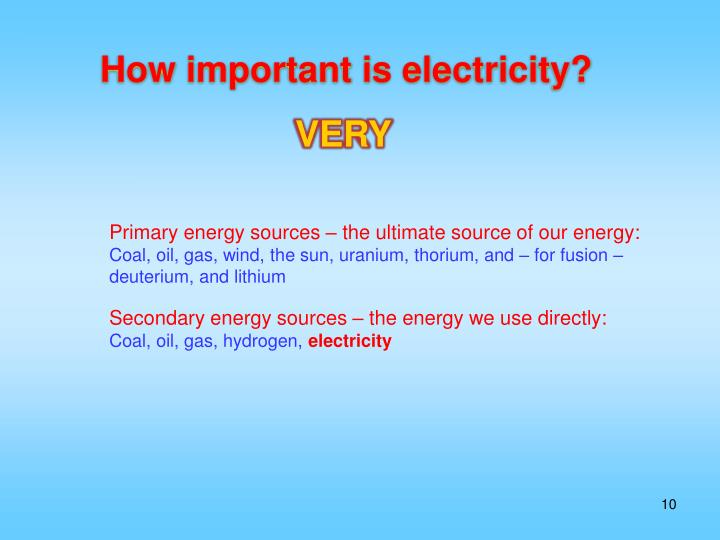 How important is electricity?