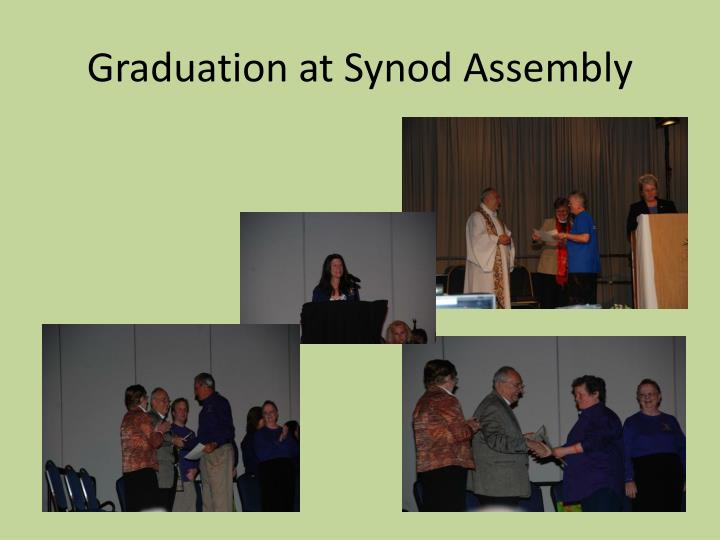 Graduation at Synod Assembly