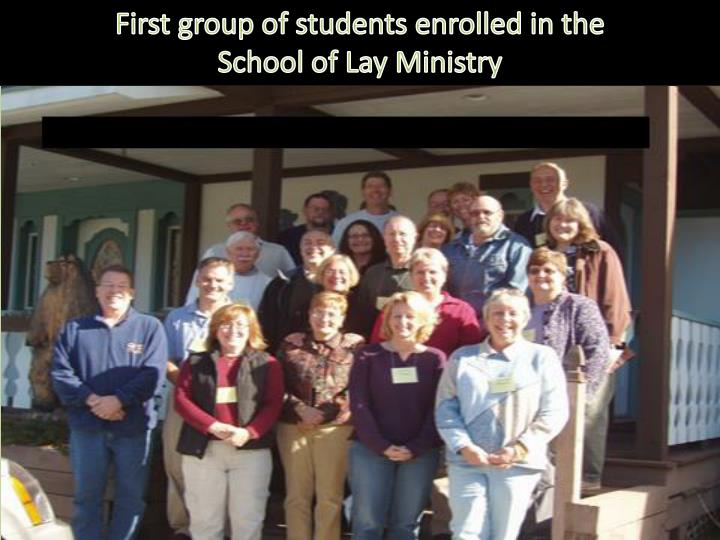 First group of students enrolled in the