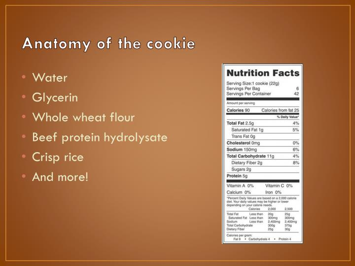 Anatomy of the cookie