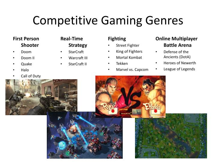 Competitive gaming genres