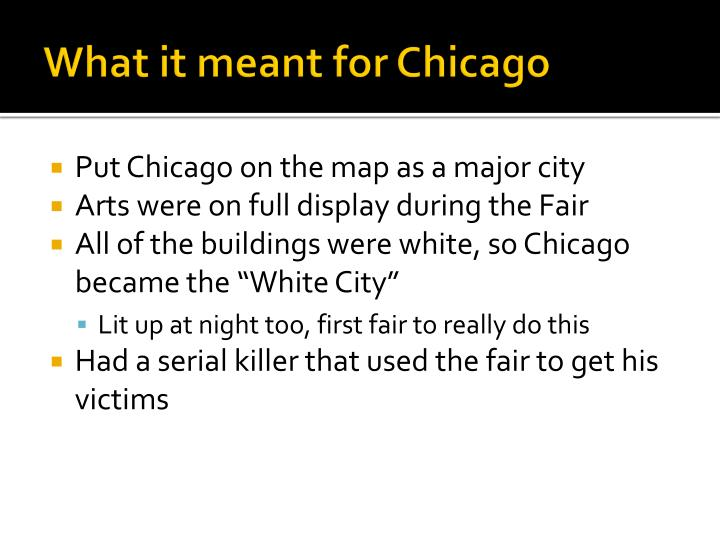 What it meant for Chicago