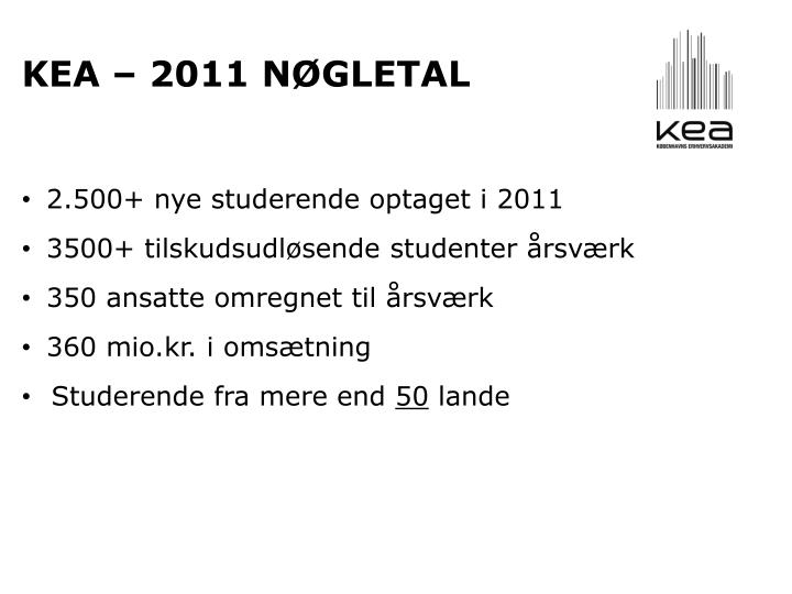 Kea – 2011 nøgletal