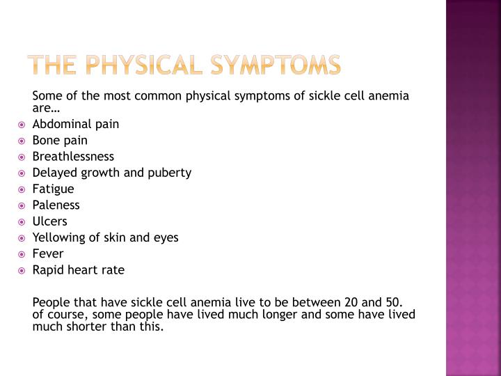 The physical symptoms