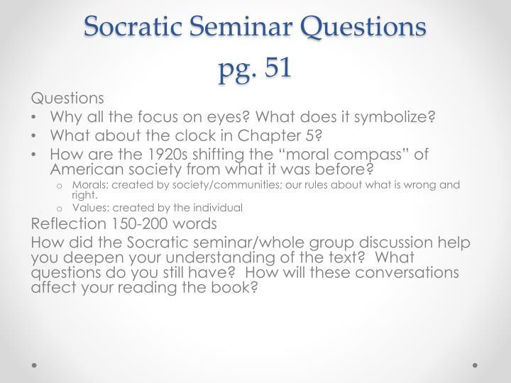 Socratic Seminar Questions