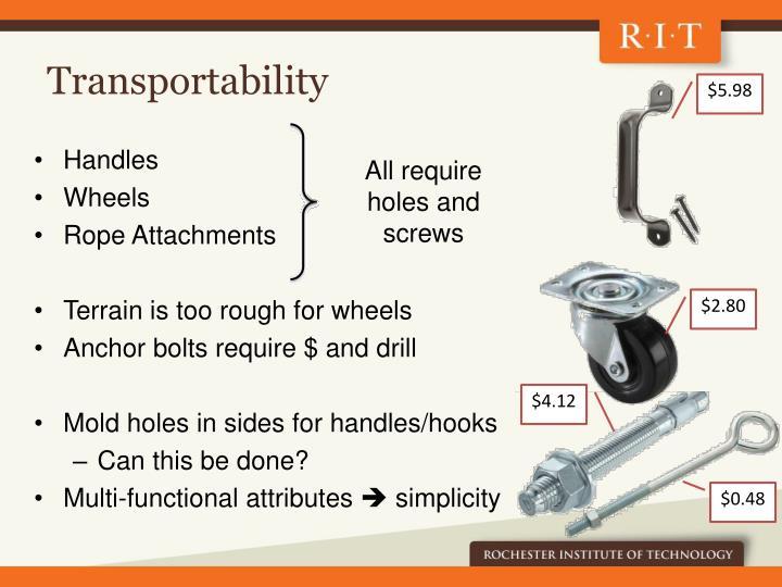 Transportability