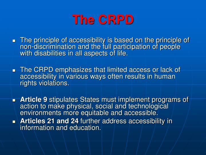 The CRPD