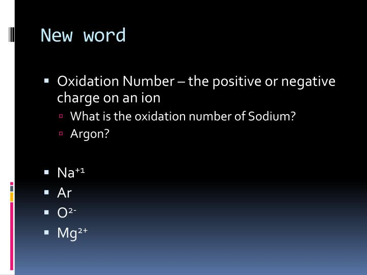 New word