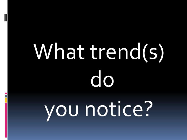 What trend(s) do