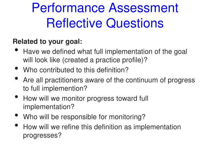 reflection questions education 4