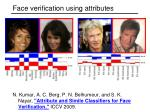 face verification using attributes