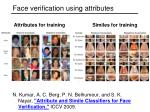 face verification using attributes1