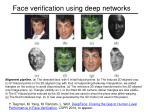 face verification using deep networks1