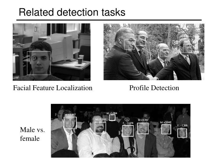 Related detection tasks