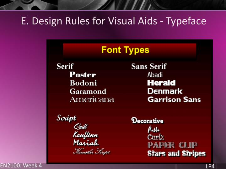 E. Design