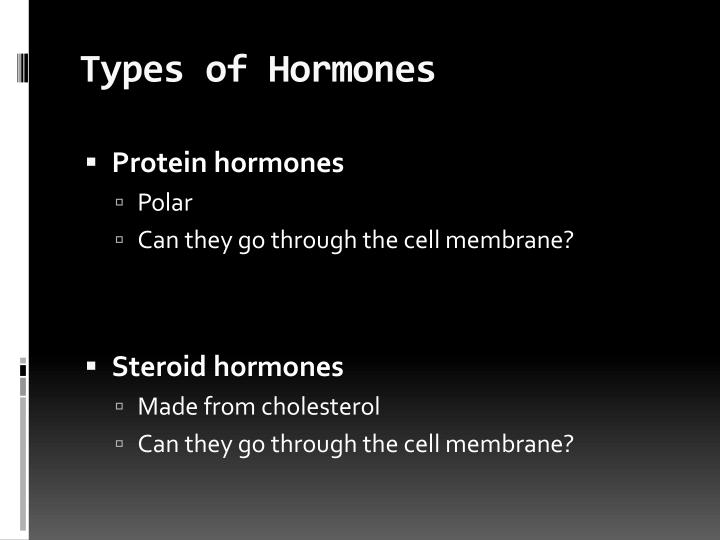 Types of Hormones