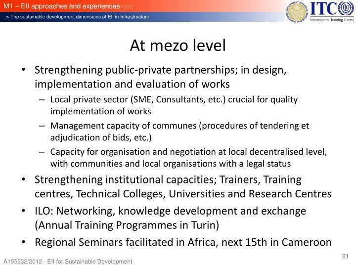 At mezo level