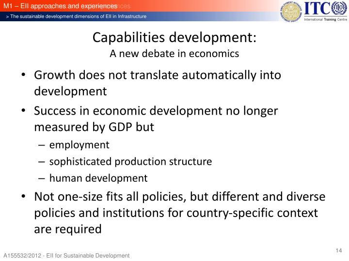 Capabilities development: