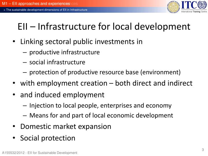 EII – Infrastructure for local development