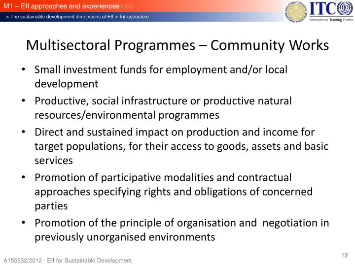 Multisectoral Programmes – Community Works