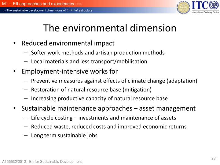 The environmental dimension