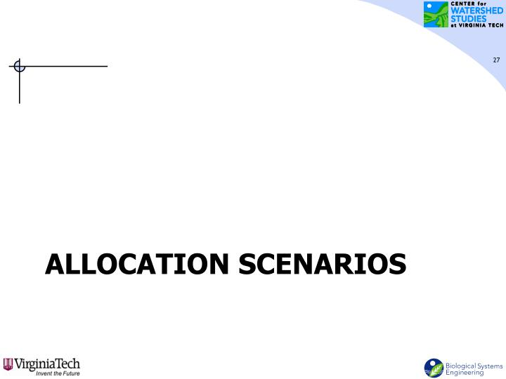 Allocation Scenarios