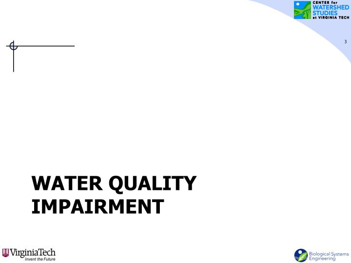 Water Quality Impairment