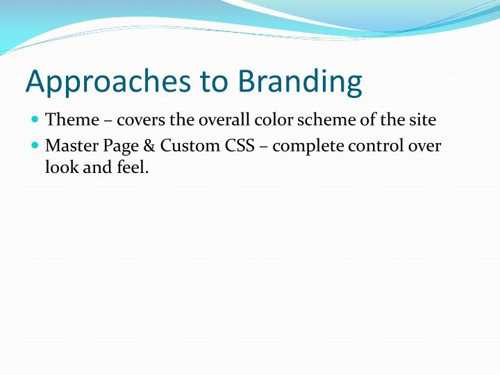 Approaches to Branding