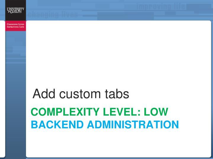 Add custom tabs