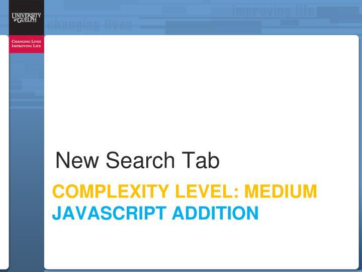 New Search Tab