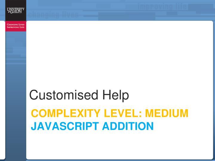 Customised Help