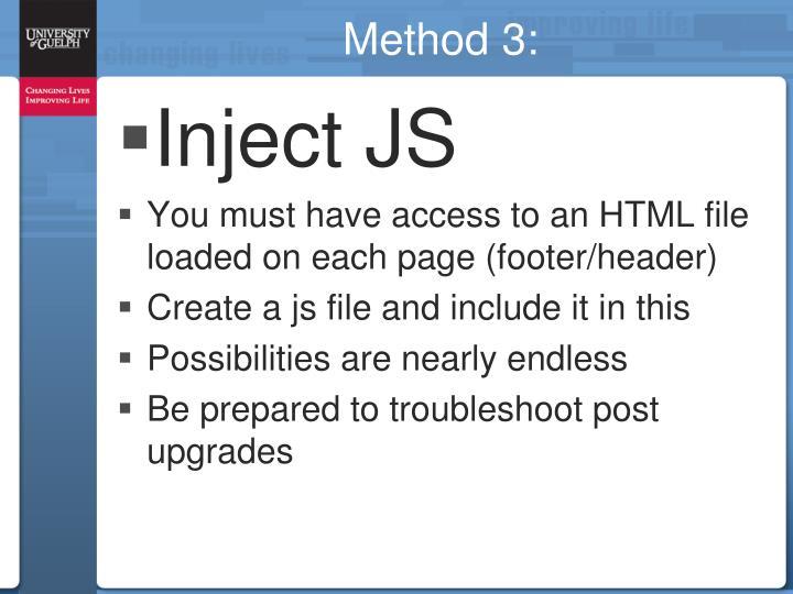 Method 3: