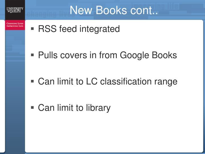 New Books cont..